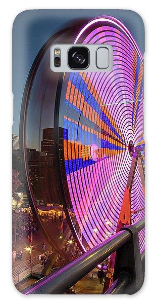 Galaxy Case - Ferris Wheel At Fun Fair In Downtown Portland Oregon by David Gn