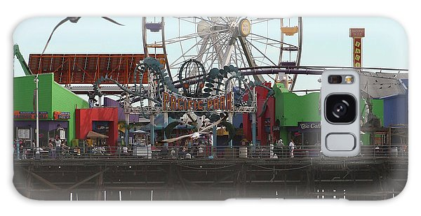 Ferris Wheel At Santa Monica Pier Galaxy Case