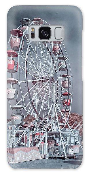 Ferris Wheel In Morning Galaxy Case by Greg Nyquist