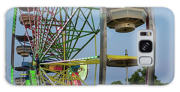 Galaxy Case - Ferris Wheel Lights At Dusk Closeup by David Gn