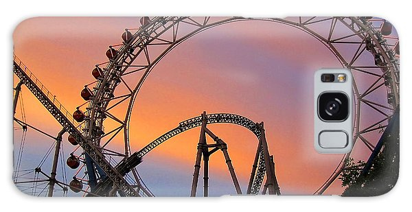 Ferris Wheel Sunset Galaxy Case