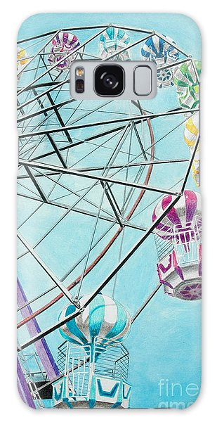Ferris Wheel View Galaxy Case