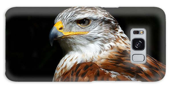 Ferruginous Hawk Portrait Galaxy Case