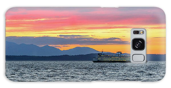 Ferry In Puget Sound Galaxy Case