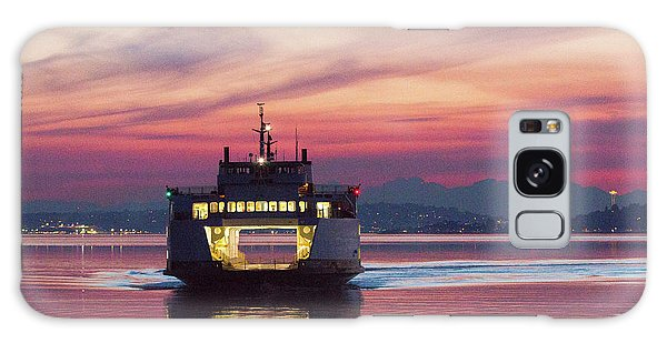 Ferry Issaquah Docking At Dawn Galaxy Case by E Faithe Lester