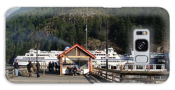 Ferry Landed At Horseshoe Bay Galaxy Case by Rod Jellison