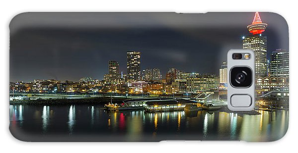 Ferry Terminal In Vancouver Bc At Night Galaxy Case