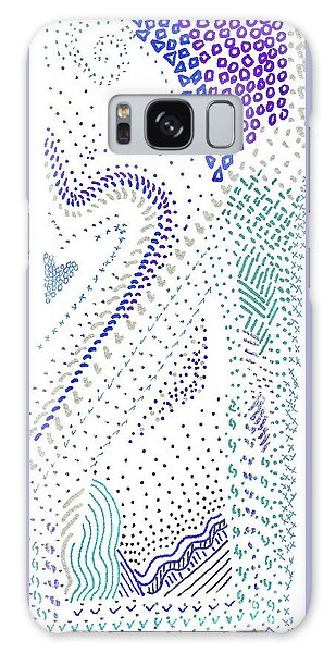 Festival In Blue And Silver Galaxy Case