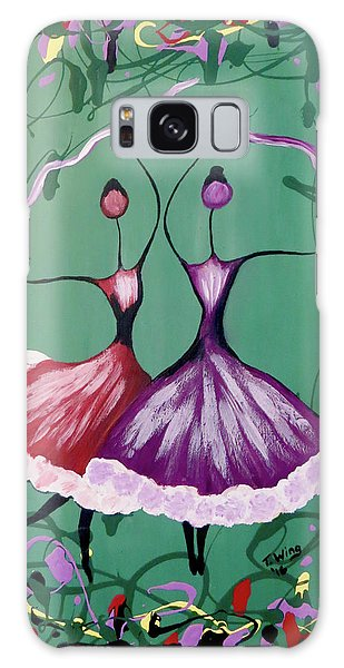 Galaxy Case featuring the painting Festive Dancers by Teresa Wing