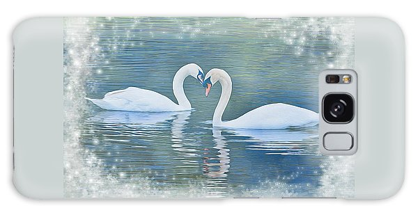 Festive Swan Love Galaxy Case by Diane Alexander