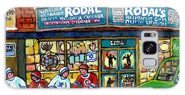 Fiddler On The Roof Painting Canadian Art Jewish Montreal Memories Rodal Gift Shop Van Horne Hockey  Galaxy Case by Carole Spandau