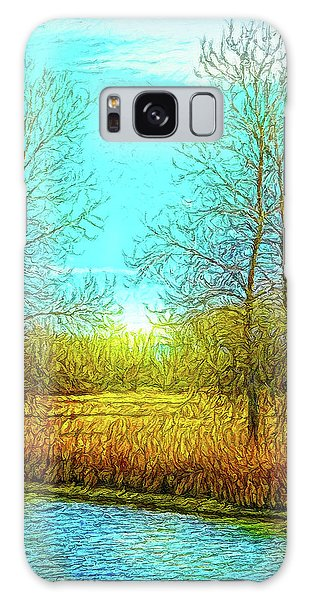 Field In Morning Light Galaxy Case