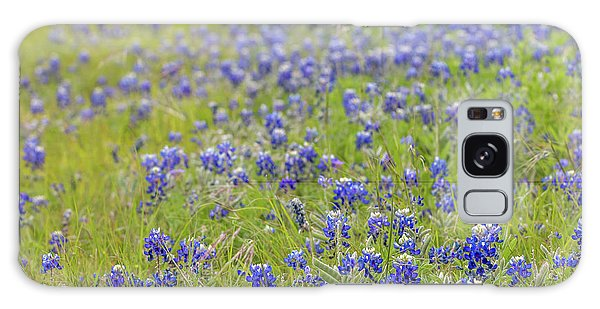 Field Of Blue Bonnet Flowers Galaxy Case