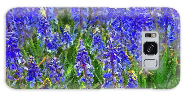 Galaxy Case featuring the digital art Field Of Blue by Digital Photographic Arts