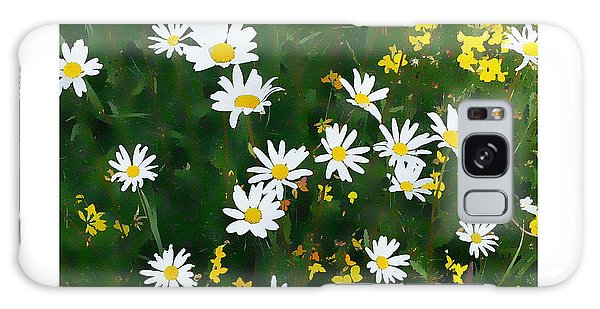 Galaxy Case featuring the digital art Field Of Daisies by Julian Perry