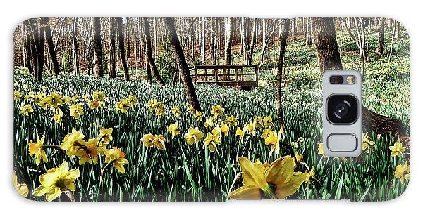 Galaxy Case - Field Of Daffodils by Elijah Knight