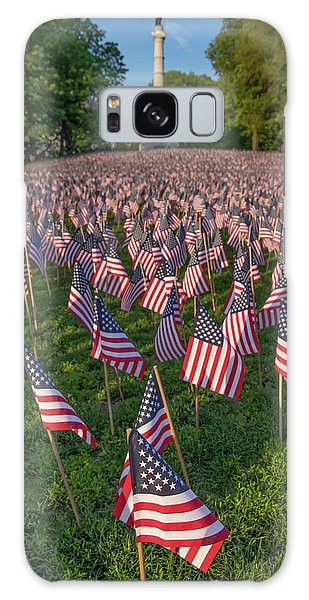 Field Of Flags At Boston's Soldiers And Sailors Monument Galaxy Case