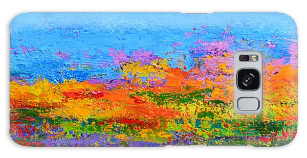 Abstract Field Of Wildflowers, Modern Art Palette Knife Galaxy Case