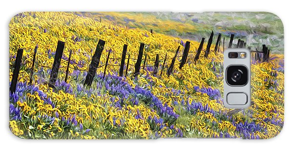 Field Of Gold And Purple Galaxy Case