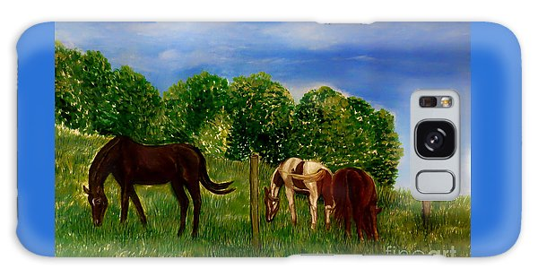 Field Of Horses' Dreams Galaxy Case by Kimberlee Baxter
