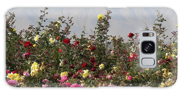 Field Of Roses Galaxy Case by Laurel Powell