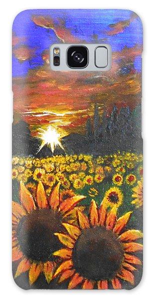 Field Of Sunflowers Galaxy Case