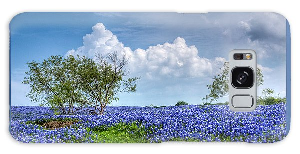 Field Of Texas Bluebonnets Galaxy Case by David and Carol Kelly