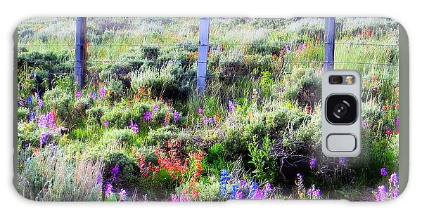 Field Of Wildflowers Galaxy Case by Karen Shackles