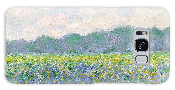Rural Scenes Galaxy S8 Case - Field Of Yellow Irises At Giverny by Claude Monet