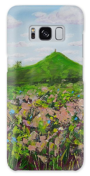 Fields To Glastonbury Tor Galaxy Case