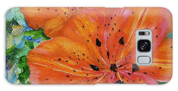 Galaxy Case featuring the painting Fierce Tiger by Judith Rhue