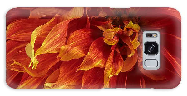 Fiery Dahlia Galaxy Case by Chris Scroggins