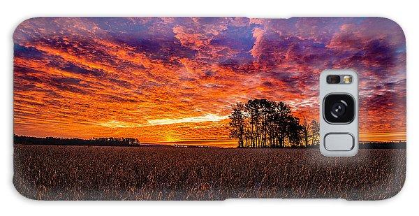 Fiery Dawn At Center Grove Galaxy Case