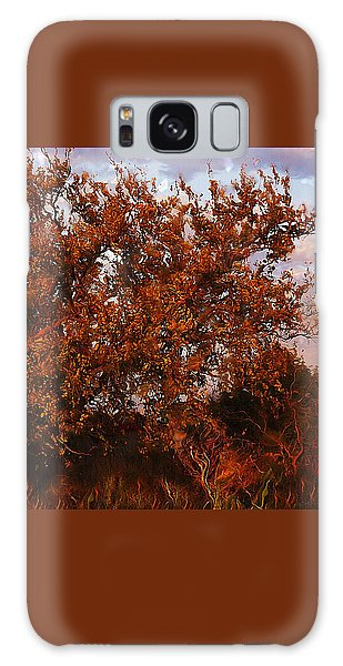 Galaxy Case featuring the digital art Fiery Elm Tree  by Shelli Fitzpatrick