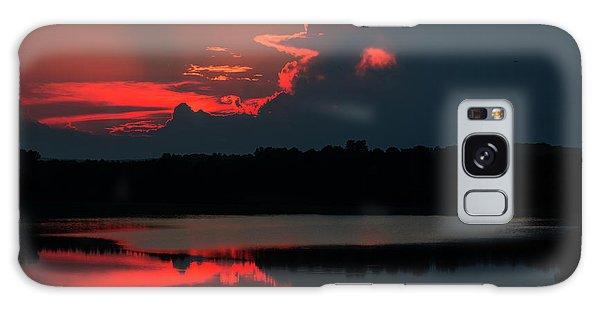 Fiery Evening Galaxy Case