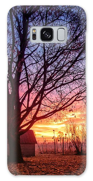 Galaxy Case featuring the photograph Fiery Morning Sunrise by Lars Lentz