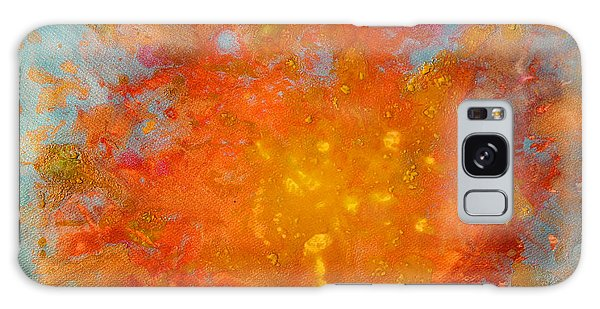 Fiery Sunset Abstract Painting Galaxy Case