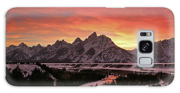 Fiery Sunset On Snake River Galaxy Case