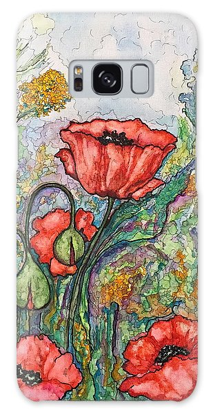 Filed Of Flowers #1 Galaxy Case
