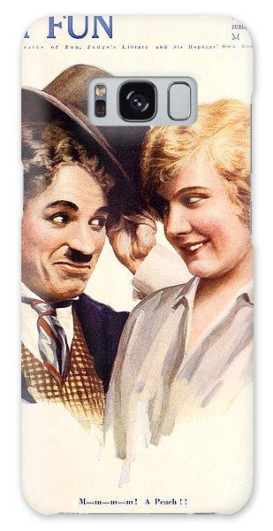 Film Fun Classic Comedy Magazine Featuring Charlie Chaplin And Girl 1916 Galaxy Case