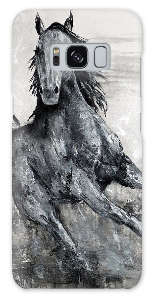 Contemporary Black And White Horse Painting, Fin Galaxy Case