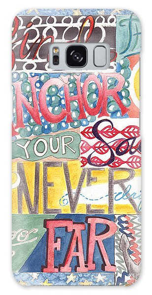 Galaxy Case featuring the painting Find Your Anchor by Erin Fickert-Rowland