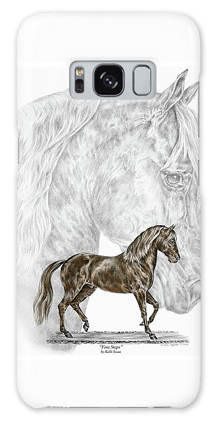 Fine Steps - Paso Fino Horse Print Color Tinted Galaxy Case by Kelli Swan