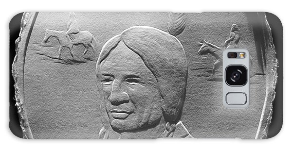 Fingernail Relief Drawing Of American Indian  Galaxy Case