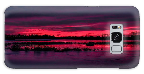 Fire And Ice Sunrise Galaxy Case