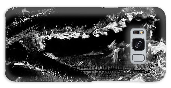 Galaxy Case featuring the photograph Fire Black And White by Britt Runyon