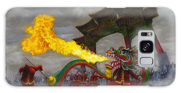 Fire-breathing Dragon Dancer Galaxy Case