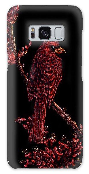Fire Cardinal Galaxy Case