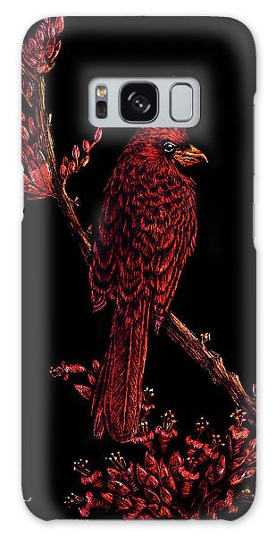 Fire Cardinal Galaxy Case