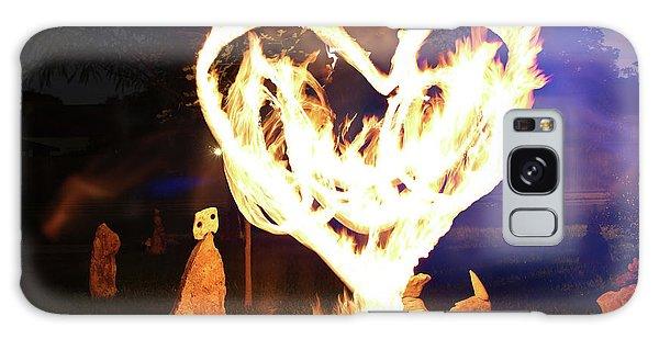Fire Heart Galaxy Case